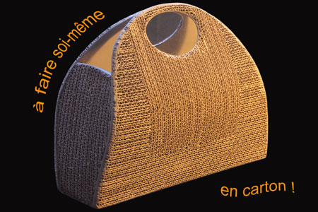 faire un sac main en carton et apprendre faire du cartonnage. Black Bedroom Furniture Sets. Home Design Ideas